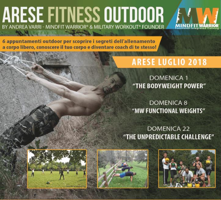 Arese Fitness Outdoor: 3 Domeniche di addestramento con Militaryworkout®