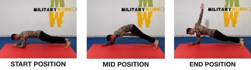 MW Elbows Plank Knee Touch Backstroke