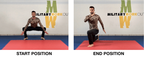 MW Squat Mobility + Diagonal Lunges
