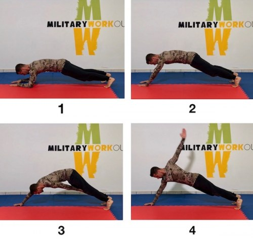 MW Elbows to Hands Plank Knee Touch Backstroke