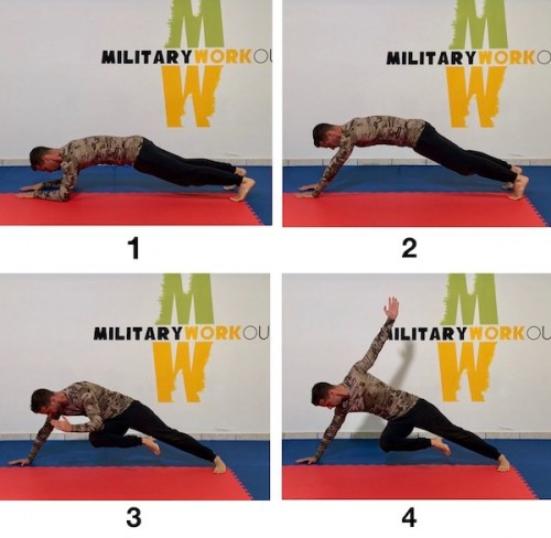 MW Elbows to Hands Plank Twist Balance