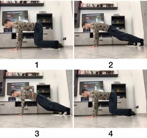 HFB Sliding Quad to Hands Plank (Lev.3) + Single Hand Plank