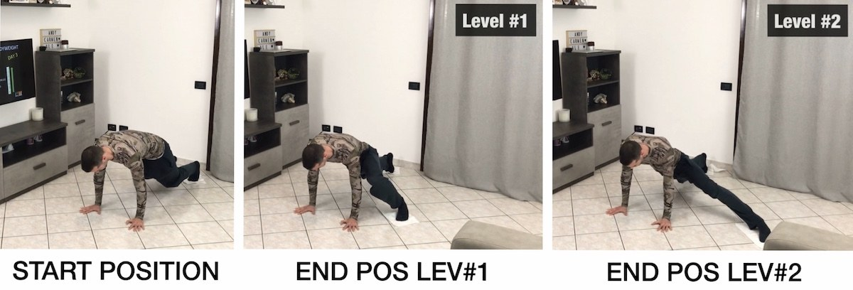 HFB Hands Plank + Lower Body Lat Sliding (L1 + L2)