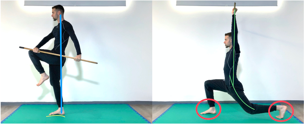 Half Kneeling to Balance with Stick
