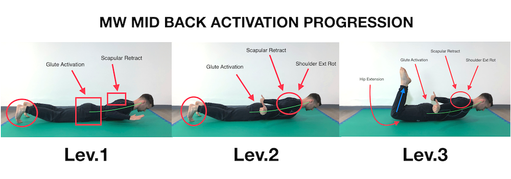 MW Mid Back Activation Prog (L1+L2+L3)